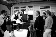 outdoor coffee bar at the canzanella wedding